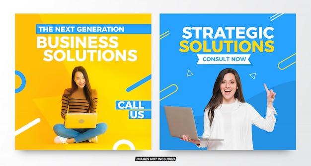 Modèles de publication sur les réseaux sociaux creative business solutions