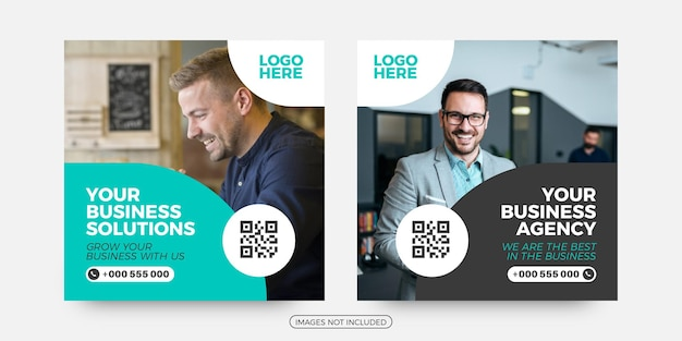 Modèles de publication sur les réseaux sociaux de solutions d'affaires