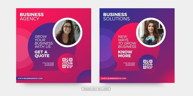 Modèles de publication sur les réseaux sociaux de solutions commerciales modernes