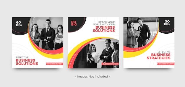 Modèles de publication sur les réseaux sociaux de solutions d'entreprise