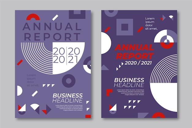 Modèles de rapport annuel géométrique 2020 et 2021