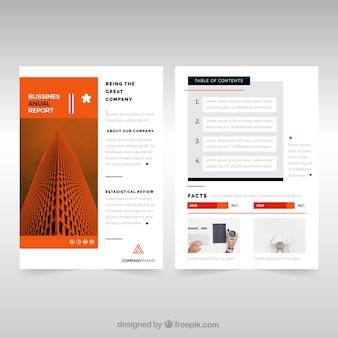 Modèles de rapports annuels d'entreprise