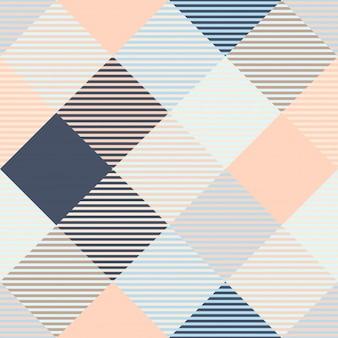 Modèles sans couture à carreaux classiques de tartan et de buffle