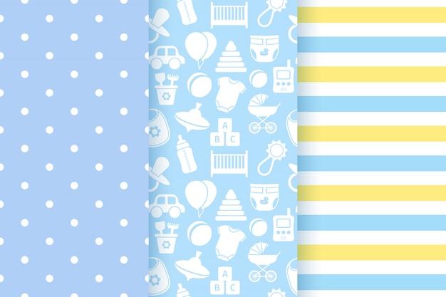 Modèles sans couture de douche de bébé