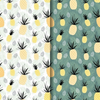 Modèles sans couture d'été tropical tropical serti d'ananas