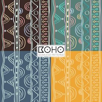 Modèles sans couture ethnique boho