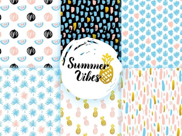 Modèles sans couture géniaux d'été. illustration vectorielle de fond de tuile de nature.