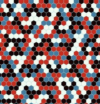 Modèles sans couture hexagonale.