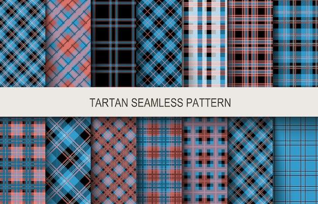 Modèles sans couture tartan