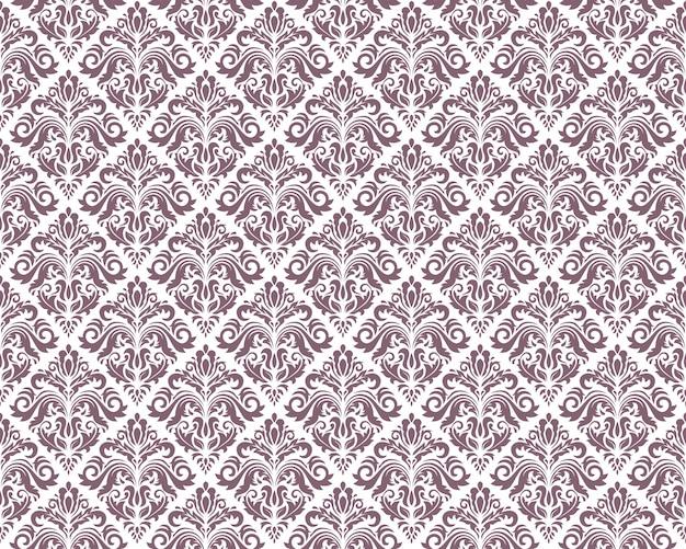 Modèles sans couture vintage damassés, illustration vectorielle. répétition horizontale et verticale