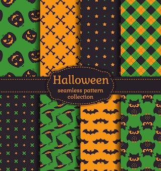 Modèles sans soudure halloween. ensemble.