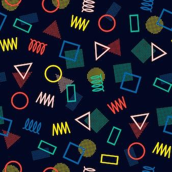 Modèles sans soudure de memphis. textures abstraites enchevêtrement.