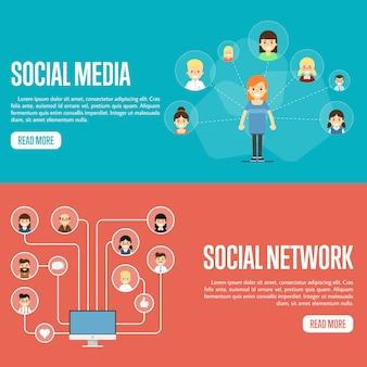 Modèles de sites web pour réseaux de médias sociaux