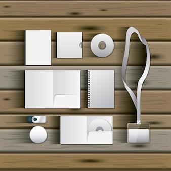 Modèles stationnaires de conception vierge de documentation
