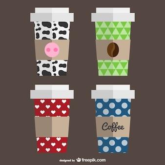 Modèles De Tasse à Café Vecteur gratuit