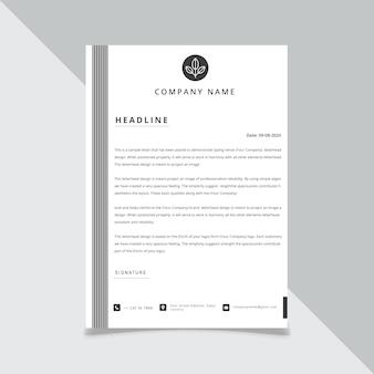 Modèles de tête de lettre de style commercial pour votre projet, illustration.