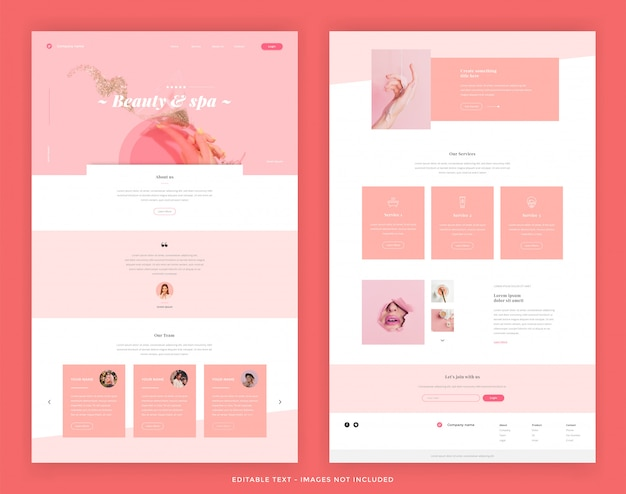 Modèles d'en-tête web beauty and spa
