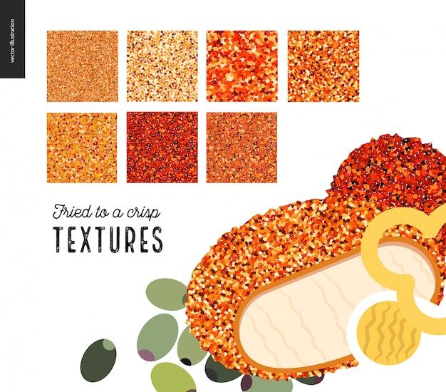 Modèles de texture de viande frite