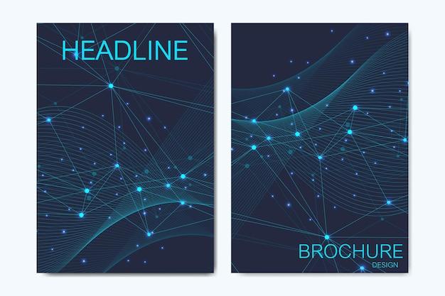 Modèles de vecteur moderne pour brochure, couverture, bannière, flyer, rapport annuel, dépliant