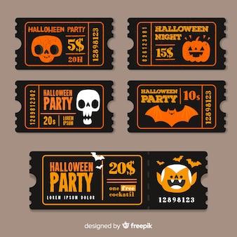 Modèles vintage de billets d'halloween