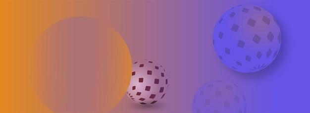 Modèles web de bannières abstraites créatives bannières prêtes à être utilisées dans la conception web ou imprimée