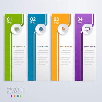 Modélisation de business moderne business infographic template 4 options.