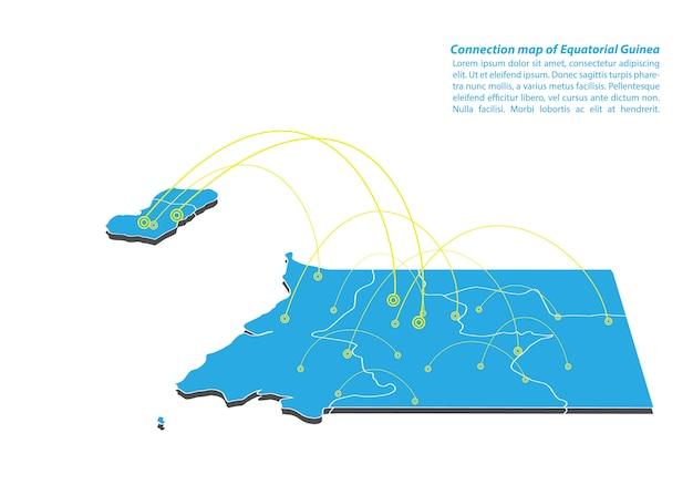 Modélisation du réseau de connexions de la guinée équatoriale moderne