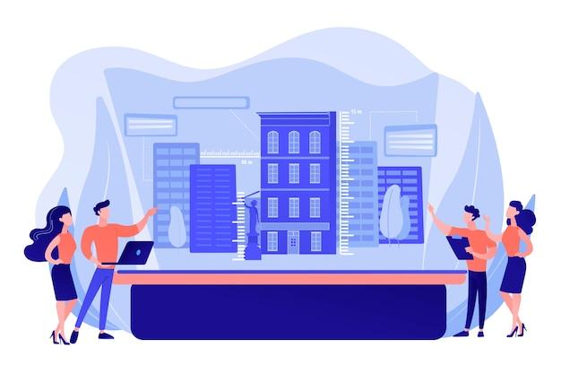 Modélisation urbaine en réalité augmentée, expérience vr en ville