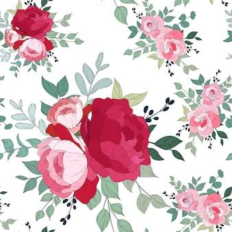 Modélisme sans couture avec beau floral