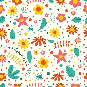 Modélisme sans couture avec des fleurs colorées