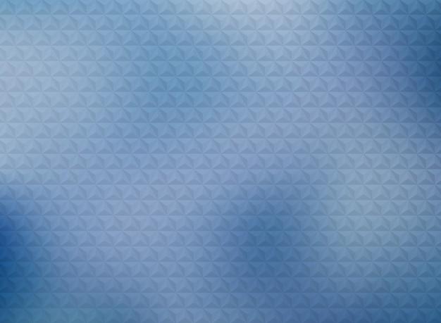 Modélisme de triangles géométriques abstraites sur fond bleu dégradé.