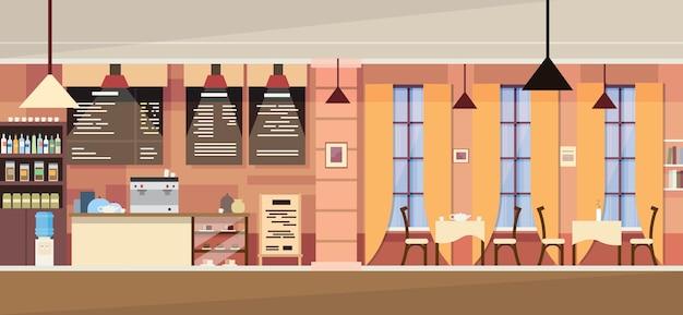 Modern cafe interior vide