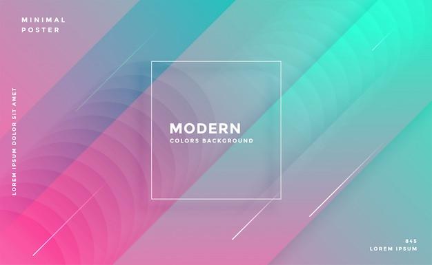 Moderne abstrait géométrique coloré à la mode