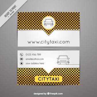 Moderne carte de taxi