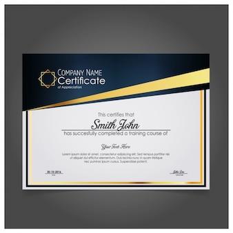 Moderne certificat d'appréciation de l'entreprise