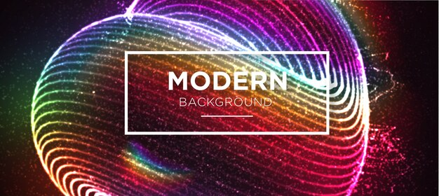 Moderne couleur avec fond splash