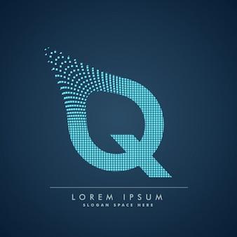 Moderne fond lettre q