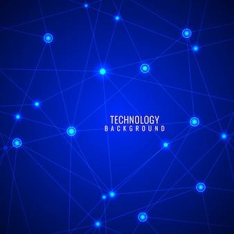 Moderne fond technologie couleur bleu