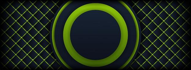 Moderne et futuriste d'abstrait vert clair avec fond sombre