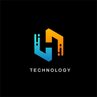 Moderne h logo design