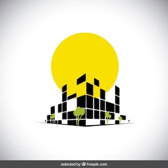 Moderne logo de l'immobilier