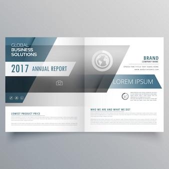 Moderne modèle de brochure d'affaires élégante dans un style bifold