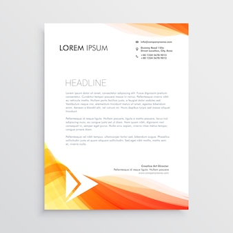Moderne modèle de conception de papier à en-tête de création