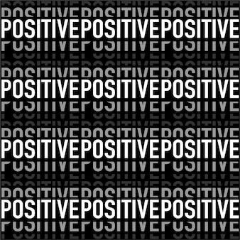 Moderne noir et blanc dans la formulation «positive» motif sans soudure de bande horizontale en vecteur