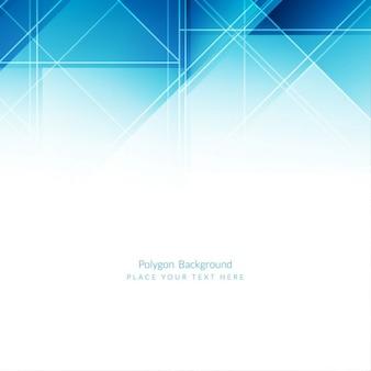 Moderne polygone bleu design fond