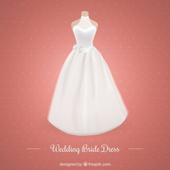 Moderne robe de mariée mariage