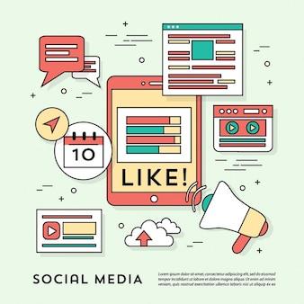 Moderne social media elementss