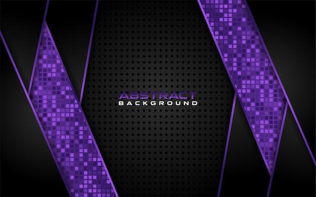 Moderne sombre et violet avec fond de forme futuriste