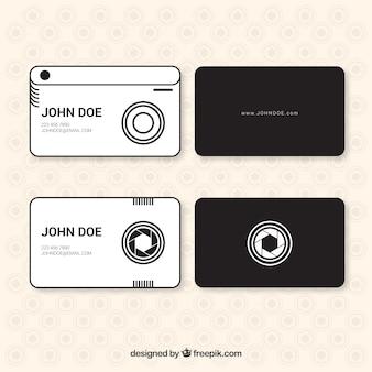 Modernes cartes de studio photo dans le style linéaire