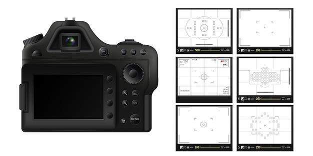 Modes d'écran modèle de prise de vue vidéo et photo